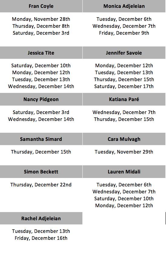 Open House Schedule Dance Ottawa